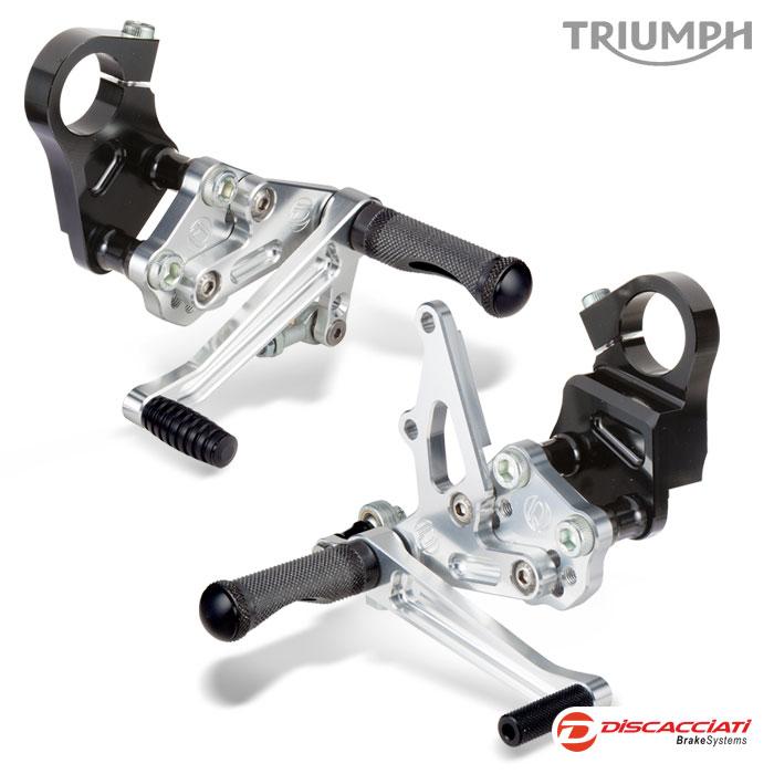 Adjustable Racing Footrest Set Triumph Thruxton Discacciati Brake